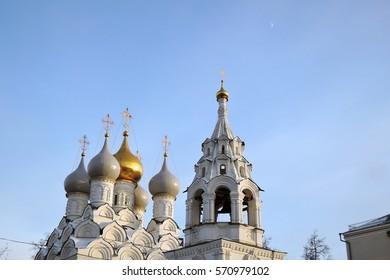 Saint Nicolas Cathedral in Moscow, on Bolshaya Ordynka street. Popular tourictic landmark. Color photo.
