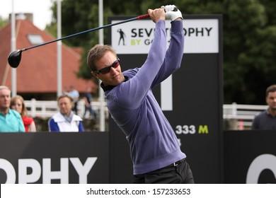 SAINT NOM LA BRETECHE , FRANCE � OCTOBER 04, 2013 : Nicolas Colsaerts  (BEL) During the second round of the Seve Trophy  (European Tour), october 04, 2013 at Saint Nom la Breteche golf, France..