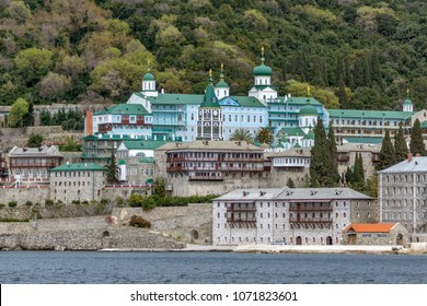 Saint Panteleimon (Saint Pantaleon) Monastery at Mount Athos in Autonomous Monastic State of the Holy Mountain, Chalkidiki, Greece