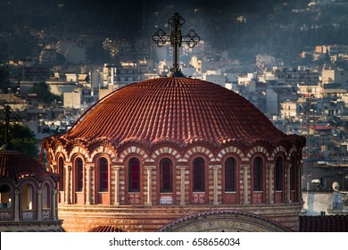 Saint Paul Church, Agios Pavlos, aerial view, detail, Thessaloniki, Greece