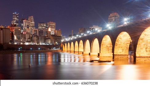 Saint Paul Minnesota Capital City Skyline Mississippi River Ramsey County