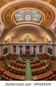 SAINT PAUL, MINNESOTA - JULY 16: Minnesota House of Representatives Chamber in the Minnesota State Capitol building on July 16, 2017 in St. Paul, Minnesota