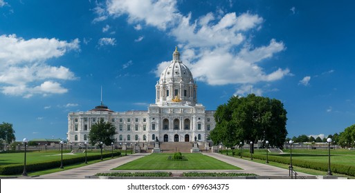 SAINT PAUL, MINNESOTA - JULY 16: Minnesota State Capitol on July 16, 2017 in St. Paul, Minnesota