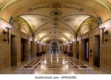 SAINT PAUL, MINNESOTA - JULY 16:  Corridor outside the Governor.s Office inside the Minnesota State Capitol on July 16, 2017 in St. Paul, Minnesota