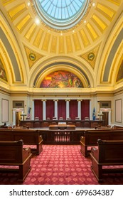 SAINT PAUL, MINNESOTA - JULY 16: Minnesota Supreme Court in the Minnesota State Capitol building on July 16, 2017 in St. Paul, Minnesota
