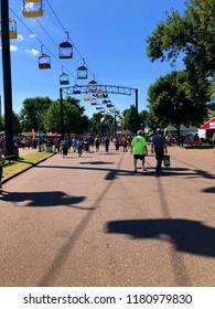 Saint Paul, MN / USA - August 29th, 2018: Minnesota State Fair Crowd