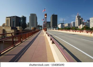 Saint Paul skyline form Wabasha Street Freedom Bridge, Saint Paul, Minnesota