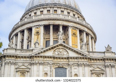 Saint Paul's Cathedral on Ludgate Hill at the highest point of the City of London, England, United Kingdom