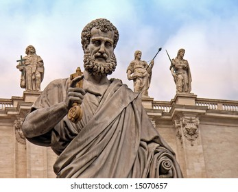 Saint Peter statue in the Vatican (Rome - Italy)