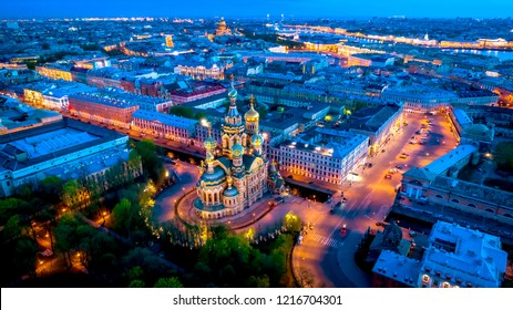 Saint Petersburg. Church of the Savior on Blood. Museums of Russia. Panorama of St. Petersburg. Evening. Evening in Petersburg. Panorama of St. Petersburg from a height.