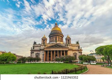 Saint Petersburg city skyline at Saint Isaac Cathedral, Saint Petersburg, Russia