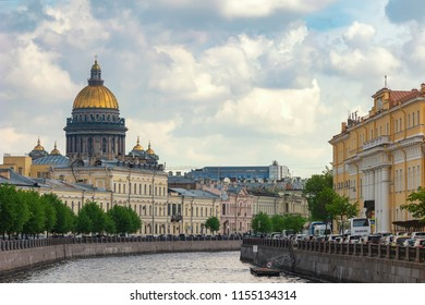 Saint Petersburg city skyline at Saint Isaac Cathedral, Saint Petersburg, Russia