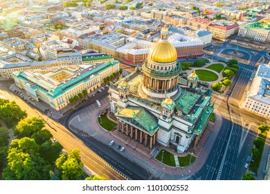 Saint Petersburg. Saint Isaac's Cathedral. Petersburg from the heights. Russia. St. Isaac's Square. Streets of Petersburg. Cities of Russia.