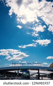 SAINT PETERSBURG - MAY, 2018: Pulkovo International Airport.