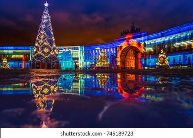 Saint Petersburg. New Year celebration. Russia.