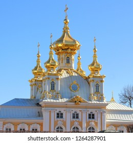 Saint Petersburg, Northwestern/ Russia-May 06, 2018: The Palace of Peter the Great, Tsar of Russia
