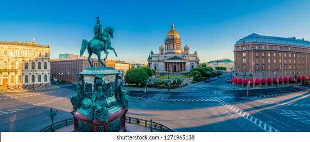 Saint Petersburg. Panorama. Russia. Saint Isaac's Cathedral. Architecture of Russia. Panorama of St. Petersburg. St. Isaac's Square. Architecture of Petersburg.