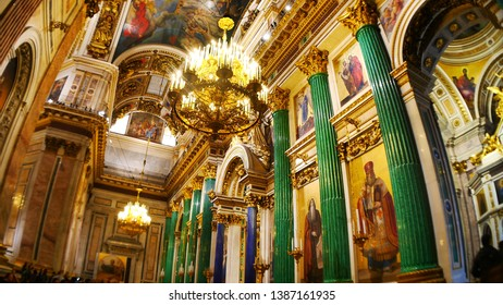Saint Petersburg, Russia - 2017 : Interior of Saint Isaac's Cathedral