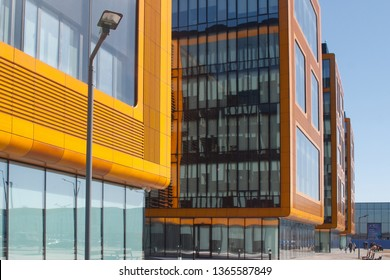 Saint Petersburg, Russia - April 06, 2019: IImage of office and hotel buildings on the Expoforum site