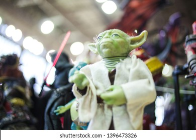 SAINT PETERSBURG, RUSSIA - APRIL 27, 2019: Figure toy master Yoda Illustrative editorial
