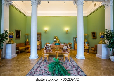 SAINT PETERSBURG, RUSSIA - APRIL 28: State Hermitage Museum, interior. Art and culture museum founded in 1764 on April 28, 2015 in Saint Petersburg.