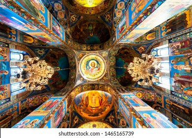 SAINT PETERSBURG - RUSSIA, APRIL 30, 2019: Interior of The Church of the Savior on Spilled Blood in Saint Petersburg, Russia