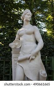 SAINT PETERSBURG, RUSSIA - AUG 31,2016: Summer garden, sculpture