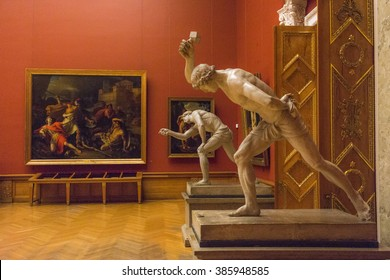 SAINT PETERSBURG, RUSSIA, - AUGUST 17, 2015:  Pictures and sculptures in State   Russian Museum.