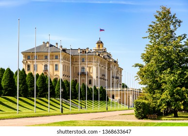 Saint Petersburg, Russia - August 9, 2018: Konstantinovsky Palace in Strelna. The State Complex The National Congress Palace