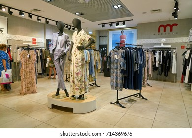 SAINT PETERSBURG, RUSSIA - CIRCA AUGUST, 2017: inside a store at Galeria shopping center. Galeria is major shopping and entertainment center is located in downtown of St. Petersburg