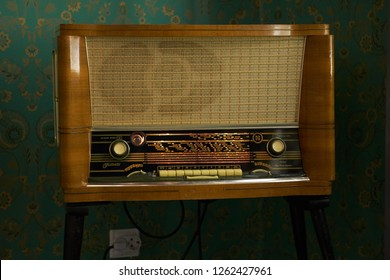 SAINT PETERSBURG, RUSSIA - DECEMBER 10, 2018: Radiotehnika Festivals radio receiver.