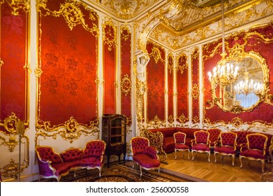 SAINT PETERSBURG, RUSSIA - FEB 24, 2015: One of the rooms of the State Hermitage, a museum of art and culture in Saint Petersburg, Russia. It was founded in 1764 by Catherine the Great