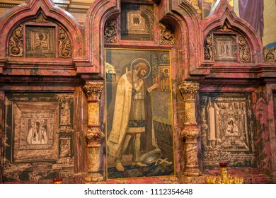 Saint Petersburg, Russia - July 10, 2017: Interior of Church of the Savior on Spilled Blood in Saint Petersburg, Russia