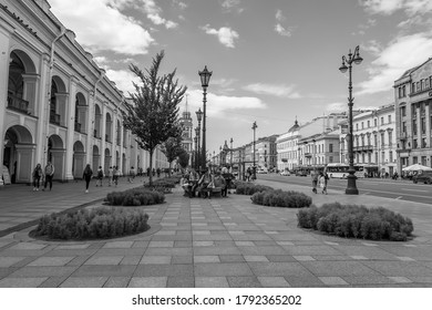 Saint Petersburg, Russia, June 13, 2020. Nevsky prospect is the main street of the city. Architectural ensemble.