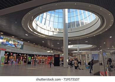 Saint Petersburg, RUSSIA - MAY 07, 2017: the interior of the building Pulkovo airport