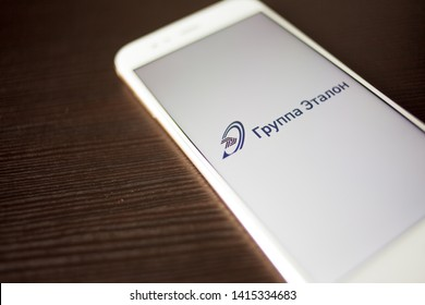SAINT PETERSBURG, RUSSIA - MAY 14, 2019: Logo of the Russian company Etalon group on the smartphone screen. Russian business, Illustrative editorial