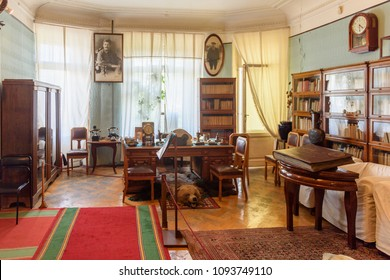 SAINT PETERSBURG, RUSSIA - MAY 18, 2018: Interior of the apartment museum of Sergey Kirov, Bolshevik leader in the Soviet Union