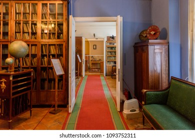 SAINT PETERSBURG, RUSSIA - MAY 18, 2018: Corridor of the apartment museum of Sergey Kirov, Bolshevik leader in the Soviet Union