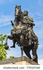 Saint Petersburg, Russia. The monument to Peter The Great near the St. Michael's castle.