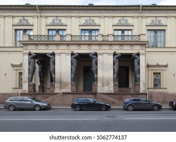 Saint Petersburg, Russia - Oct 25, 2017: Atlanteans at the Hermitage.