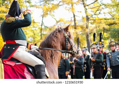Saint Petersburg Russia October 13 2018 Historical Reconstruction General On Horse
