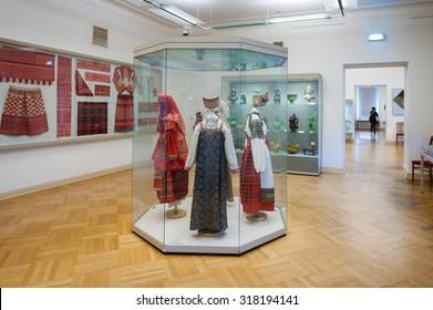 SAINT PETERSBURG, RUSSIA - SEP 18, 2015: Interior of the State Russian Museum (the Russian Museum of His Imperial Majesty Alexander III) .