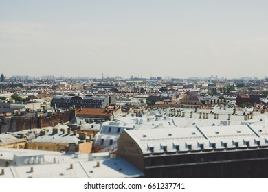 Saint Petersburg, Russia.The view of the city. The tilt-shift effect