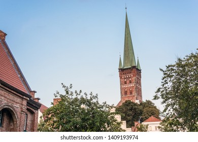 The Saint Petri Church, holds cultural and religious events as well as art exhibitions in Luebeck, Schleswig-Holstein, northern Germany.