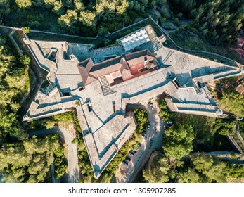 Saint Philip Fortress in Setubal from above, Portugal