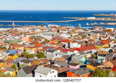 Saint Pierre panorama. Saint Pierre, Saint Pierre and Miquelon.