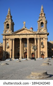 Saint Publius Parish Church also known as the Floriana Parish Church. Floriana. Malta