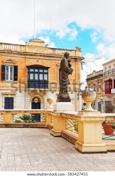 Saint sculpture at Church of St Mary, Mgarr, Malta