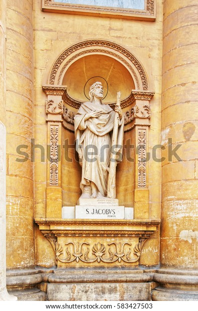Saint sculpture of Church of St Mary, Mgarr, Malta