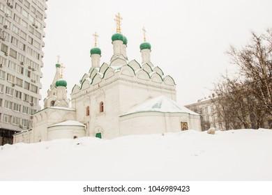 Saint Simeon Stylites church in Moscow, Russia, New Arbat street